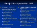nanoparticle application 2003