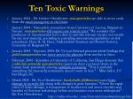 ten toxic warnings1