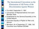 the international convention on the elimination of all forms of the discrimination against women