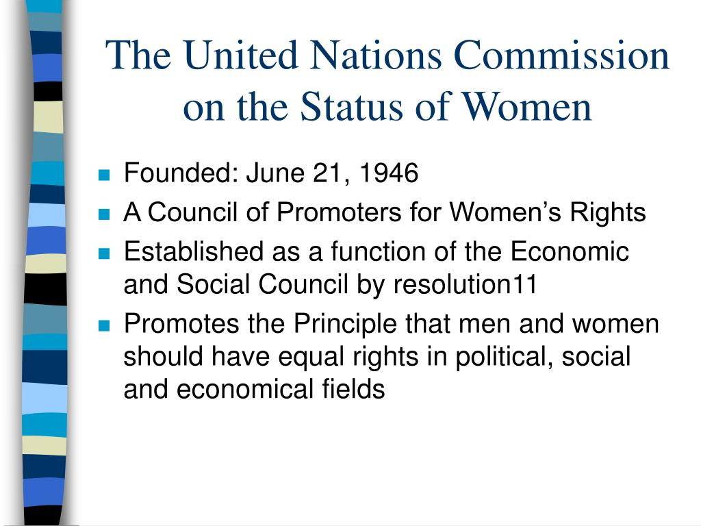 the united nations commission on the status of women l.