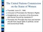 the united nations commission on the status of women