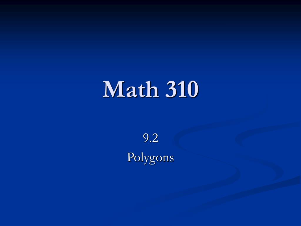 math 310 l.