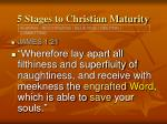 5 stages to christian maturity10
