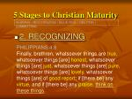 5 stages to christian maturity13