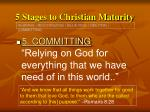 5 stages to christian maturity23