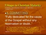 5 stages to christian maturity24