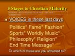 5 stages to christian maturity6