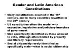 gender and latin american constitutions