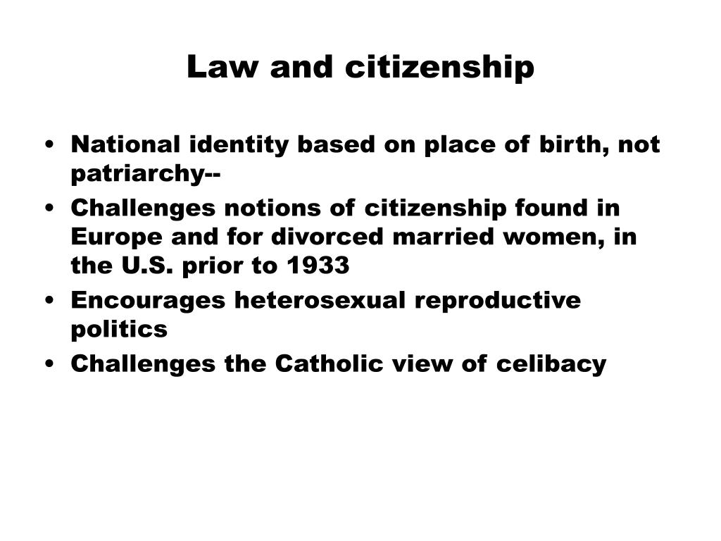 law and citizenship l.