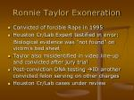 ronnie taylor exoneration