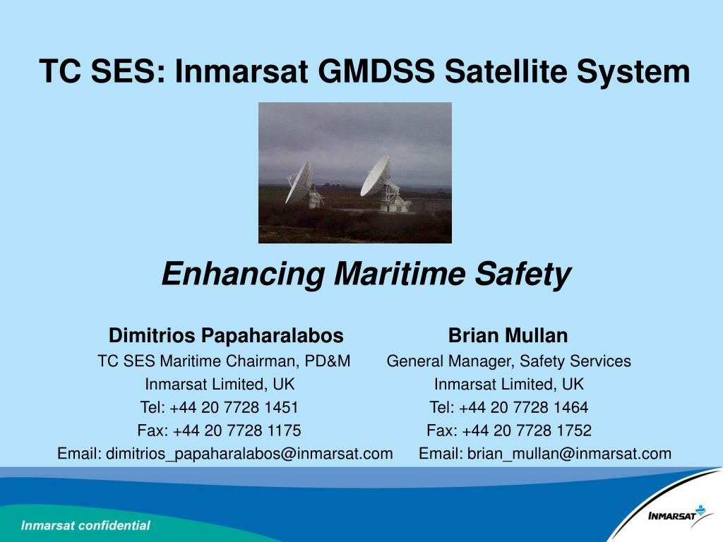 tc ses inmarsat gmdss satellite system enhancing maritime safety l.