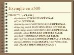 exemple en x500