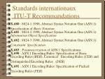 standards internationaux itu t recommandations