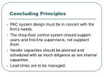 concluding principles