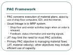 pac framework