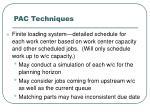 pac techniques11