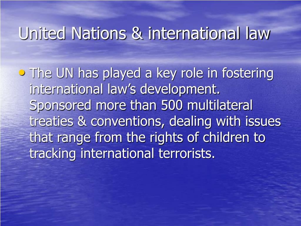 United Nations & international law