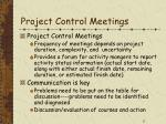 project control meetings