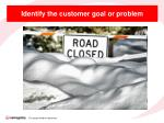 identify the customer goal or problem