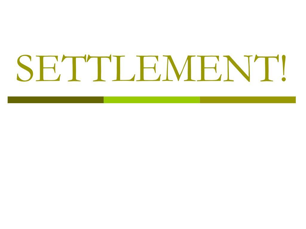 settlement l.