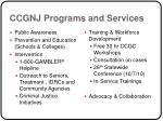 ccgnj programs and services