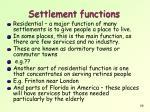 settlement functions1