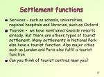 settlement functions4