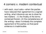 4 corners v modern contextual