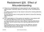 restatement 20 effect of misunderstanding