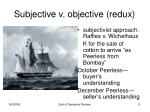 subjective v objective redux