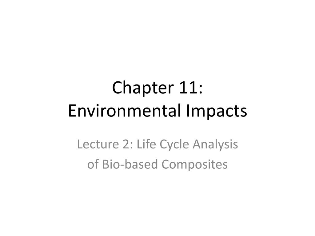 chapter 11 environmental impacts l.