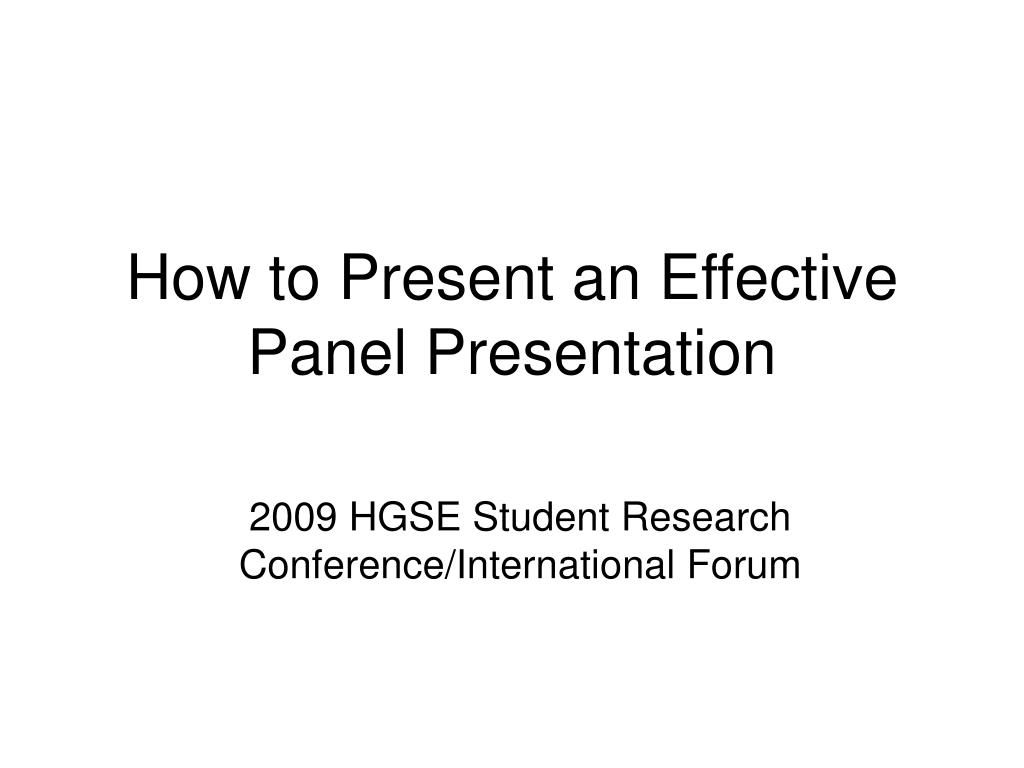 2009 hgse student research conference international forum l.