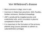 von willebrand s disease