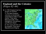 england and the colonies pages 82 84