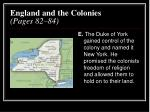 england and the colonies pages 82 844