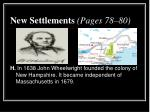 new settlements pages 78 806