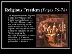 religious freedom pages 76 782