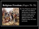 religious freedom pages 76 783