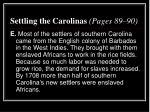 settling the carolinas pages 89 903