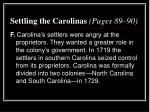 settling the carolinas pages 89 904