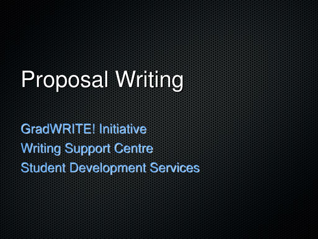 proposal writing l.