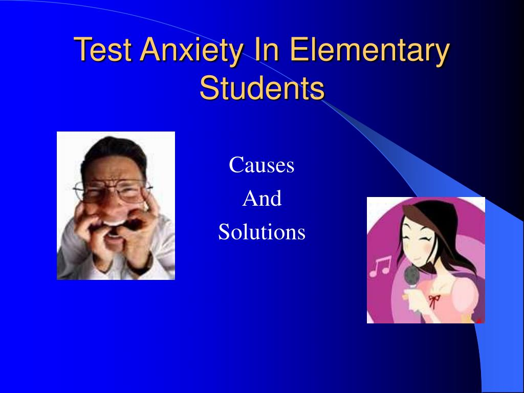 test anxiety in elementary students l.