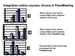 integration online courses forums flashmeeting