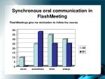 synchronous oral communication in flashmeeting