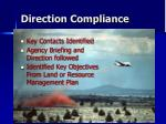 direction compliance