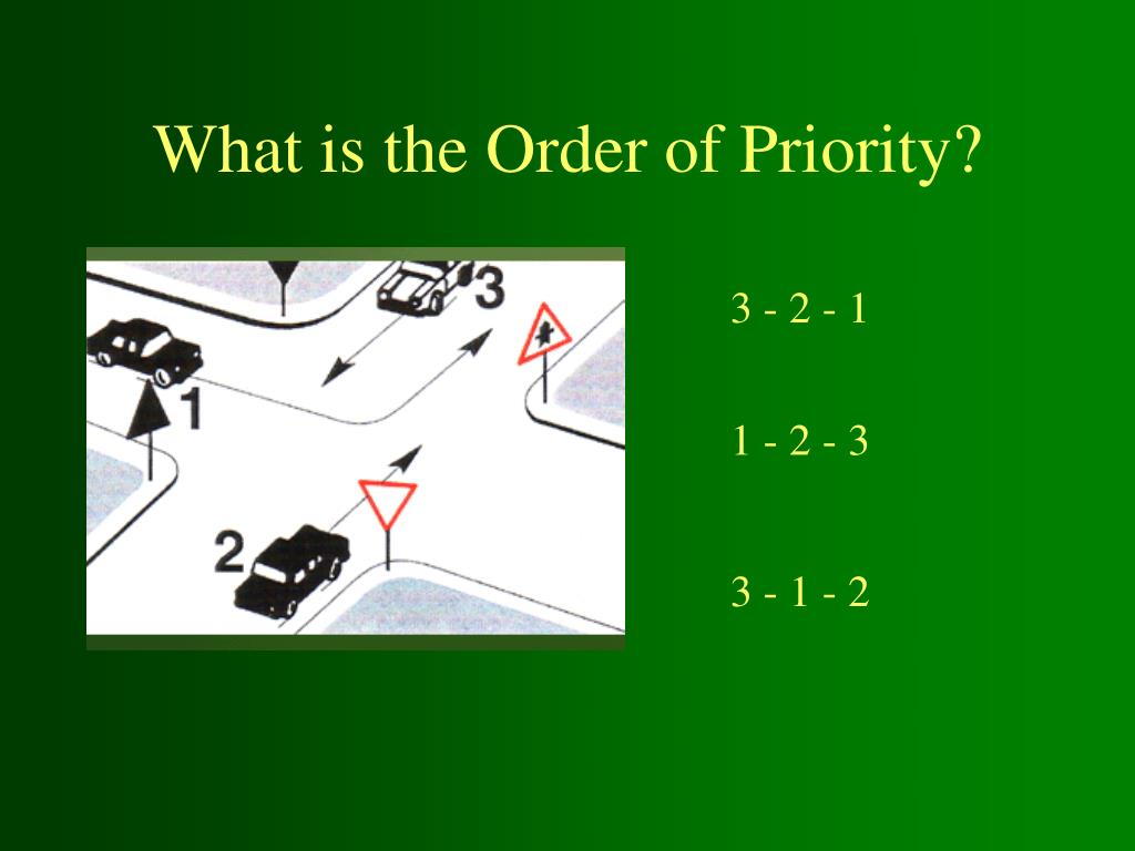 what is the order of priority l.