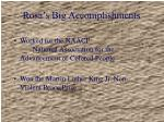 rosa s big accomplishments
