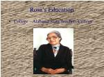 rosa s education