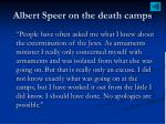 albert speer on the death camps