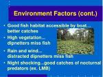environment factors cont